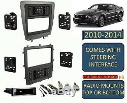 2010-2014 Ford Mustang Double Din Car Radio Stereo Dash Kit Écran Tactile Climatique