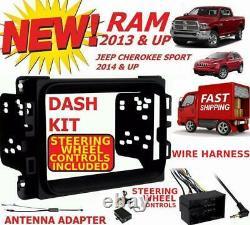 2013 & Up Dodge Ram Truck Car Stereo Installation Dash Kit +harnais +antenne