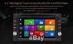 2020 Double 2din Indash Gps Sat Nav Lecteur DVD Radio Stéréo Voiture 6.2 Écran Tactile