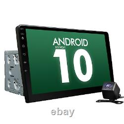 2021 10.1 Android 10 Double Din Voiture Stereo Radio Gps Navi Wifi 4g Obd2 Sat Bt E