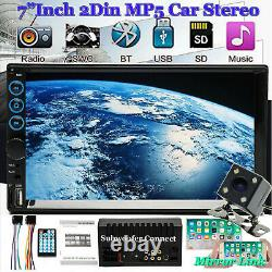 2021 Hd Lens Double 2din 7 Voiture Stereo Radio Lecteur Mp5 Dans Dash Bt Mp3 + Camera