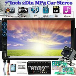 2021 Lens Double 2din 7 Voiture Stereo Radio Lecteur Mp5 Dans Dash Bt Mp3 + Led Camera