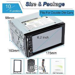 2 Din Au Tableau De Bord LCD Hd Bluetooth Stéréo Voiture Radio Lecteur Mp3 À Écran Tactile Aux USA