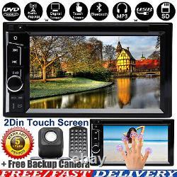 2 Din Hd Bluetooth Lecteur Stéréo Radio Voiture DVD Touch Écran Miroir Lien Pour Gps