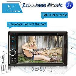 2din Car Stereo Radio CD Lecteur De DVD Bt Usb Fm Aux Récepteur Gps Miroir De Liaison Pour