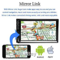 2din Voiture Radio Mp5 Stéréo Multi-joueurs Mirrorlink Pour Android Ios Navigation Gps