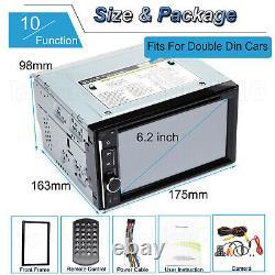 2din Voiture Stereo Radio Lecteur CD DVD Bt Mirror Link Pour Gps Avec Caméra Arrière