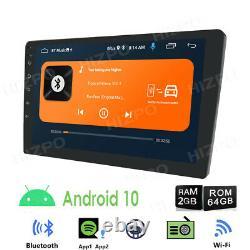 64 Go 10.1 Android 10 Voiture Stéréo Gps Navi Player Double Din Wifi Quad Core Radio