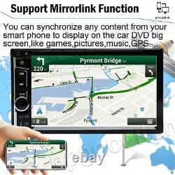 6.2 2din Car Stereo Radio CD Lecteur DVD Bluetooth Mirrorlink-gps Avec Caméra Arrière