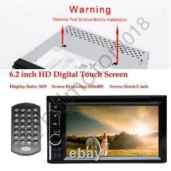 6.2 2din Car Stereo Radio Lecteur DVD Écran Tactile Bluetooth Miroir Lien Pour Voir La Carte