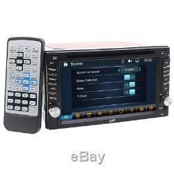 6.2 Au Tableau De Bord Double 2din Voiture Stéréo DVD CD Lecteur Gps Écran Tactile Auto Radio + Cam