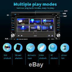6.2 Autoradio CD Lecteur DVD Sat Navigation Gps Radio Écran Tactile Double 2 Din