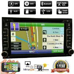 6.2 Car Stereo Radio Lecteur DVD Double 2din Buletooch Gps Dash + Caméra De Recul