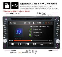 6.2 Double 2 Din Car Stereo CD DVD Player Radio Bluetooth Fm Gps Backup Camera