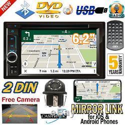 6.2 Double 2 Din Lecteur DVD De Voiture Stéréo Head Unit Kit Caméra Radio & Bluetooth