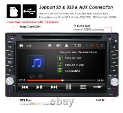 6.2 Double 2 Din Voiture Lecteur DVD Gps Radio Stereo Unité Tête Usb Bt Mirror Link