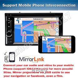 6.2 Double 2 Din Voiture Lecteur Stéréo CD DVD Bluetooth Radio Avec Caméra De Recul Us