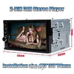 6.2 Double 2 Din Voiture Stereo Hd CD DVD Radio Lecteur Bluetooth Et Caméra De Sauvegarde