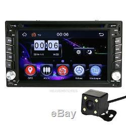 6.2 Double Camera 2din Voiture Stéréo Lecteur DVD Gps Navi Bluetooth Fm Radio Ipod +