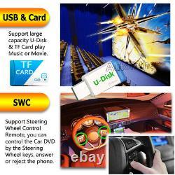 6.2 Écran Tactile 2din Voiture Radio Stéréo Usb Miroir Lien Pour Android / Ios + Caméra