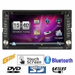 6.2 Hd Double 2 Din Dans La Voiture De Navigation DVD Stéréo Stéréo Navigation Gps Usb + Map + Caméra