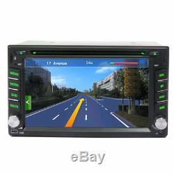 6.2 Navigation Gps Double Din Autoradio DVD Radio Fm Lecteur Blueteeth + 8g Carte