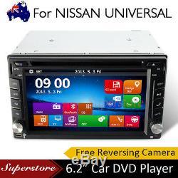 6,2 Pouces Double 2 Din Lecteur DVD Stéréo Pour Gps Universel Nissan Bt CD Radio