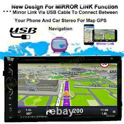 6.2 Radio De Voiture Stéréo Multi-joueurs Miroirs Pour Android Ios Gps Navigation+camera