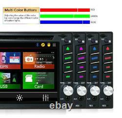 6.2 Touch Double 2din Voiture DVD CD Radio Stereo Lecteur Gps Navigation Bt + Caméra