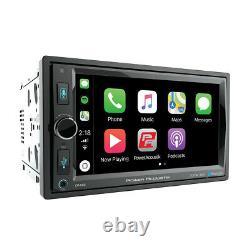 6.5 Bluetooth Radio Am/fm Mp3 Usb Apple Car Play Double Din Écran LCD Tactile