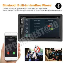 6.9 Voiture Stereo Bluetooth Radio Double 2din DVD Player+camera Mirrorlink Pour Gps
