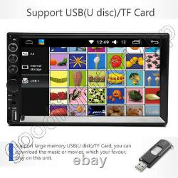 7 2 Din Touch Screen Car Mp5 Mp3 Player Bluetooth Stereo Am Fm Radio Usb/tf Aux