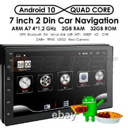 7 Android 10 2+32go Gps Double Din Car Stereo Radio No DVD Player Bluetooth Carte