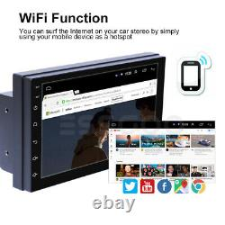 7 Android 10 Voiture Stéréo Gps Navigation Radio Player Double Din Wifi Usb Camera