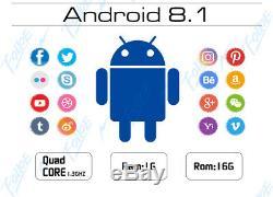 7 Android 8.1 Double 2 Din Usb Lecteur Stéréo Voiture Dash Gps Sd Aux Wifi