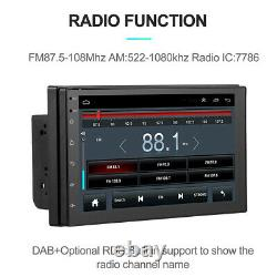 7 Android 8.1 Voiture Double Din Stereo Gps Navigation Wifi Bluetooth Radio Lecteur