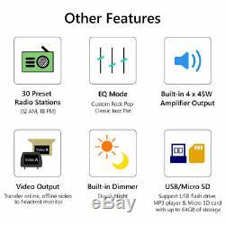 7 Android 9.0 De 2 Go De Voiture Radio Stereo Quad Core 4g Wifi Double 2din Lecteur Gps Nav