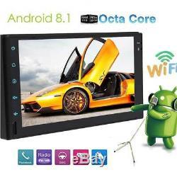7 Android Double 2din Car Stereo Radio Gps Wifi Obd2 Miroir Lien No Lecteur DVD