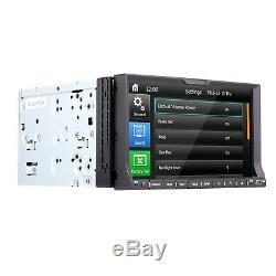 7 Caméra De Recul + Lecteur De DVD Stéréo Bluetooth Pour Voiture Radio Double Din Avec Carte