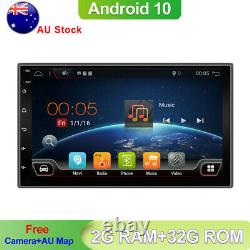 7 Double 2 Din Android 10.0 Voiture Stereo Navigation Chef Unité Gps Wifi Bt Dab+32g