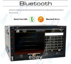 7 Double 2 Din Car Stereo Hd CD DVD Player Radio Bluetooth Fm Tv Backup Camera