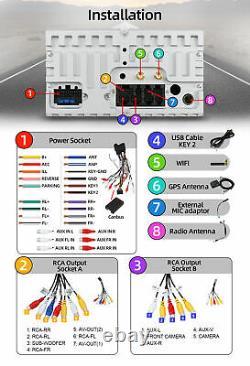 7 Double 2 Din Voiture Stéréo Android 10 Pour Audi A4 B6 B7 S4 Head Unit Radio DVD