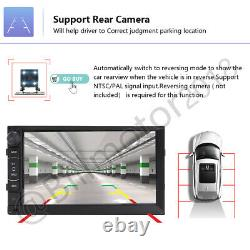 7'' Double 2din Car Radio Video Stereo Mirror Link For Gps Navi Wifi Android Ios