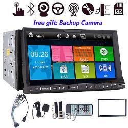 7 Double Din Indash Navigation Gps Lecteur DVD De Voiture Lecteur Stéréo Bluetooth + Caméra