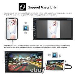 7 Double Din Voiture Stereo Gps Lecteur De CD DVD Radio Bluetooth Écran Tactile + Caméra