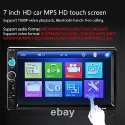 7 Double Voiture Lecteur Mp5 2din Bluetooth Écran Tactile Stéréo Radio Usb
