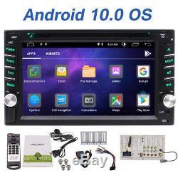7 Pouces Android 10.0 4g Wifi Double Caméra 2din Lecteur Voiture Radio Stéréo DVD Gps +
