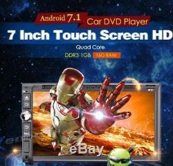 7 Smart Android7.1 4g Wifi Double 2din Voiture Radio Stéréo Lecteur DVD Gps + Appareil Photo