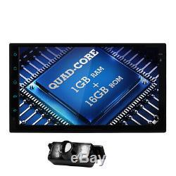 7 Smart Android 6.0 4g Wifi Double 2din Autoradio Stéréo Lecteur DVD Caméra Gps