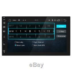 7 Smart Android 8.1 Wifi Double 2din Car Radio Stéréo No Lecteur DVD Caméra Gps +